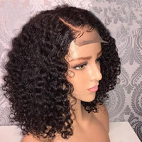 Wholesale best lace wigs sold resale online - Wigs gt Product detail Best selling kinky curly Vienamese human hair Lace Front wigs Pre Plucked Full Lace Wigs high quality on stock