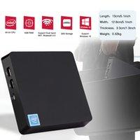 Wholesale mini hdmi output vga resale online - T11 Mini PC Intel Z8350 GHz Wnidows licensed support inch HDD VGA HDMI dual output WIN10 TV BOX