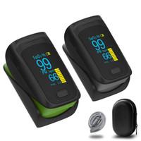 monitor de oxígeno del oxímetro de pulso al por mayor-2019 nuevo médico portátil digital LED dedo oxímetro de pulso monitor de saturación de oxígeno en sangre cuidado de la salud de alta calidad