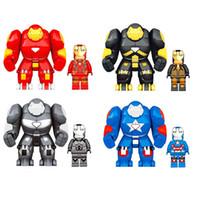 juguetes de ladrillo al por mayor-Super Heroes Iron Man bloques de construcción de dibujos animados para niños Ladrillos juguetes Modelo de Edificio C6449