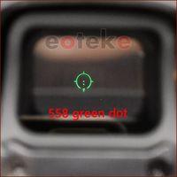 rote grüne punktstrecken großhandel-Tctical Zielfernrohr 558 holographisch und 33 Lupenvisier Kit roter Punkt grüner Punkt Zielfernrohr für die 20-mm-Airsoft-Schienenmontage