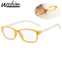 lunettes garçons bleu achat en gros de-Lunettes de soleil pour enfants Blue Light Blocking Glasses Cadre optique pour enfants Transparent Glissière Filles Garçons Numérique Strain Gaming UV400