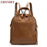 Wholesale gifts for teenage girls online - Vintage Women Backpack Leather PU School Backpacks For Teenage Girls Large Capacity Shoulder Bags For Women Gift