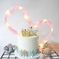 negro rosa decoracion de la boda al por mayor-Seda de la cinta de la torta decoraciones de la boda rosa negro cumpleaños postre mesa romántica decoración del partido granos de la lámpara cintas 3 6cdD1
