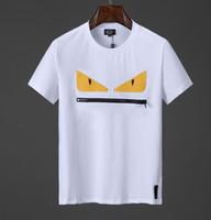 laranja camisas de futebol americano venda por atacado-fendi NOVA Marcas de Verão Homens 3D FF ROMA Impresso T-Shirt Bag Bugs Mangas Curtas Top Man 100% algodão mulheres estrela t-shirt F07 mens tee