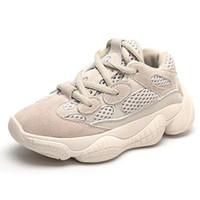 zapatos de la escuela de cuero genuino de las niñas al por mayor-Zapatillas de deporte de moda con cordones para niños, niñas y bebés Zapatillas de deporte de cuero genuino para niños, niños pequeños, niños pequeños y grandes
