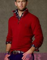 homens cashmere suéter venda por atacado-2019 qualidade Novo Zipper camisola Suéter de Cashmere Jumpers pulôver dos homens do Inverno camisola polo blusas da marca dos homens
