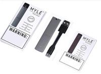 ingrosso set di caricabatterie wireless-Baccello monouso MYLE e sigaretta dispositivo vaping portatile mini e sigaretta USB kit dispositivo con caricabatterie wireless set semplice set vape top seller