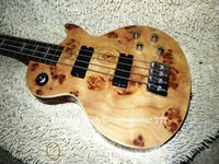 Wholesale bass guitar china resale online - Custom Wooden Strings Electric Bass High Quality Guitars From China