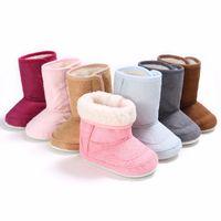 botas de goma viejas al por mayor-Invierno bebé 0-1 años de edad botas de esquí con fondo de goma zapatos para bebés y niños pequeños