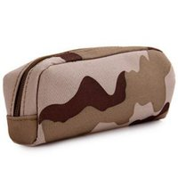 Wholesale military bags online - Outdoor Camouflage Tactical Eyeglasses Bag Accessories Case Nylon Hard Waterproof Coating Mini Case Military Glasses Box RRA164