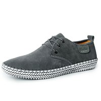 Wholesale soft driving shoes resale online - Fashion Men Casual Shoes Suede Leather Mens Leisure Flats Brand Casual Driving Shoes Comfortable Soft Leather Men