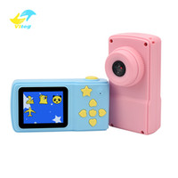 Wholesale slr screen online - X1 HD Screen Chargable Digital Mini Camera Kids Cartoon Cute Camera Toys Outdoor Photography support muisc play for Children Birthday Gift