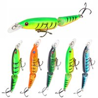 Wholesale swim bait minnows for sale - Professional Sections Minnow Fishing Lures D Eyes Swimming Jointed Baits Treble Hooks Floating Crank Lure Fishing Tackle mm g