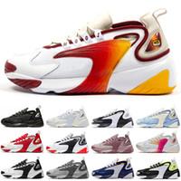 повседневная обувь оптовых-Nike zoom 2k Новейшие Tekno Zoom 2K Кроссовки Дизайнер Роскошные Мужчины Женщины 2000 Черный Белый Оранжевый Navy Flat Мода Повседневная Спортивные Кроссовки Мужские Тренеры