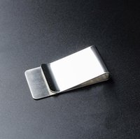 Wholesale money clippers resale online - Stainless Steel Brass Money Clipper Slim Money Wallet Clip Clamp Card Holder Credit Name Card Holdervery good price Slim Money Wallet Clip C
