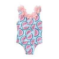 UK Summer Toddler Baby Girl Floral One-Piece Swimsuit Swimwear Swimming Costume