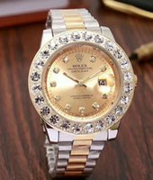 Wholesale diamond wave hair for sale - 64 ROLEX Stainless Steel band Clasp diamond Watch Men Datejust Luxury President Desinger Men s quartz Watches Wristwatch mm