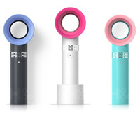 Wholesale personal cool fan resale online - Korea ZERO9 Leafless Cooling Fan mah Rechargeable Battery Mini Handheld Fans Speed Portable Personal Fan