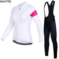 Wholesale jersey mtb women resale online - Women Winter Thermal Fleece Cycling Clothing Wear Bike MTB Jerseys Cycling Sets Men s Cycling Jersey Sets