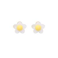 fadas acrílicas venda por atacado-Engraçado das crianças pouco fresco fada flor brincos feminino Coreano Panyafeng adorável doce acrílico unhas de orelha