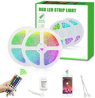 Wholesale battery operated led holiday lights resale online - RGB LED Strip Lights Battery Operated RGB SMD5050 IP67 Waterproof Rope Lights Color Changing Flexible LED Strip Kit for Home Bedroom Party