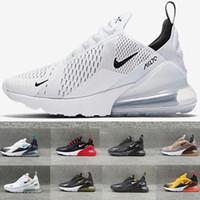 zapatillas deportivas de hombre negro al por mayor-Nike air max 270 27c airmax  zapatos corrientes de los hombres de las mujeres zapatillas de deporte de alta calidad barato negro blanco rojo azul grenn Chaussure Homme calzado