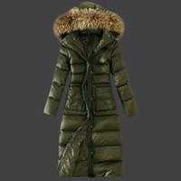 grandes abrigos de pelo al por mayor-chaqueta para el cuerpo de la mujer, abrigo de plumas, cuello grande para el pelo, talla grande, chaqueta de plumas, algodón largo para niña 001A