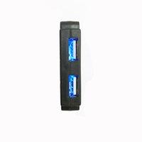 usb ışık gösterisi toptan satış-Sergi Aletleri Gözlük Sergi Vitrin Vitrin Gösterisi Kabine Donanım LED Aydınlatma Kayış U Şekli Çift USB Portları Şarj Soket