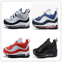 promo code 7fc16 62bba 2019 Nuovo modo di arrivo 98 Gundam Sport scarpe da corsa per uomo 98s di  alta qualità bianco blu rosso nero all aperto atletiche Sneakers