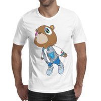 graduierungst-shirts großhandel-2019 abschließende Meister Kanye West Abschluss-Bär whitemens T-Shirt, Hemden, T-Shirts, T-Shirts, die lustigen coolen Designer-Superheldchampion drucken