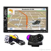 rueda de coche digital al por mayor-7020G Car MP5 Player con cámara de vista trasera Bluetooth FM GPS 7