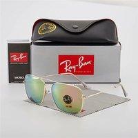 pilot mode flieger sonnenbrille groihandel-Top Fashion Aviator Ray Sonnenbrille Weinlese-Pilot Marke Band UV400 Schutz Bans Frauen der Männer Brillen 3136