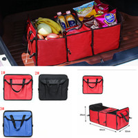 Wholesale vehicle organizer storage resale online - 3styles Foldable Vehicle Storage Bag Car Truck Organizer Basket toy sundries Container With Cooler And Insulation Car Organizer FFA2176
