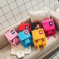 mochila casual de lona coreana al por mayor-niños mochila niños coreanos lindo gato anti-perdido lienzo deporte bolsa casual niños niñas mochila niños bolsos moda diseñador de lujo bolsas
