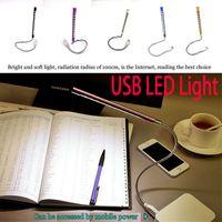 Wholesale mini book pc for sale - Group buy USB Light LED USB Reading Lamps Light Book Mini Night Bulb Table Lamps Flexible Portable Power Bank Reading Desktop For PC