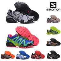 yürüyüş ayakkabıları kadın toptan satış-Ayakkabı Siyah Gümüş Kırmızı Pembe mavi Erkekler Kadınlar Açık SpeedCross 3s Yürüyüş Kadın spor ayakkabı boyutu 36-45 Running Yeni Salomon 3s