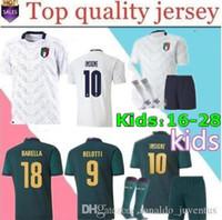 el shaarawy jersey venda por atacado-novos 2019 20 Taça de Itália Europeia terceiros homens de futebol Jersey 19 20 Chiellini EL Shaarawy Bonucci INSIGNE BERNARDESCHI crianças camisas de futebol