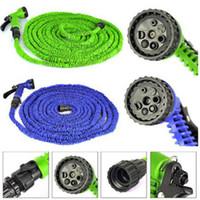 Wholesale hose 75ft resale online - Garden Hose Car Wash Pipe FT FT FT FT Flexible Garden Water Hose With Spray Gun Retractable Watering Telescopic Rubber Hose