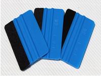 pegatina azul de 3m al por mayor-1000pcs 3M Squeegee Squeegee Squeegee Vinyl Film Wrap Blue Scraper Tools Car Sticker Tools Auto Modification Blue Auto Mobile Screen Accesorios