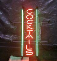 Wholesale cocktail light sign for sale - Group buy Custom COCKTAILS Neon Sign Light Bar Advertising Bar Entertainment Decoration Art Display Real Glass Lamp Metal Frame