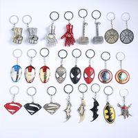 Wholesale face masks metal resale online - 19 Styles Marvel Avengers Series Keychain Batman Mask Metal Key Rings Superhero Key Holder Fans Keyring Jewelry