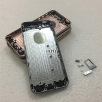 capa original capa iphone venda por atacado-JIEPEI Para iPhone SE Habitação Tampa da Bateria Porta Traseira Chassis Quadro De Volta Habitação com Vidro Original