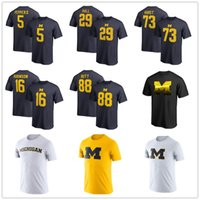 ingrosso t-shirt da basket-2019 NCAA Michigan Wolverines Torneo di pallacanestro maschile Final Four Bound Charge T-Shirt College Fans Top Top Logo con logo stampato