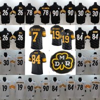 ingrosso pullover bettis-Mens Pittsburgh 36 Jerome Bettis Jersey Steelers 19 Smith-Schuster 84 Antonio Brown Ryan Shazier 43 Troy Polamalu Bradshaw Harrison Jersey