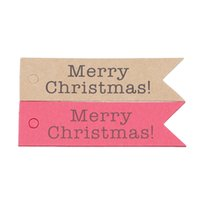 Wholesale kraft bookmarks resale online - Merry Christmas Kraft Tags With Rope Christmas Decoration Message Card Bookmark Wrapping Supplies Labels For