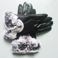 Wholesale girls glove resale online - Luxury Women Finger Gloves UG Brand PU Gloves Designer PU Soft Artificial Fur Australia UG Outdoor Windproof Warm Winter Ski Gloves C91103