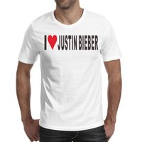 Wholesale orange heart sticker resale online - Mens design printing I Love Justin Bieber Stickers Heart white t shirt design undershirt cool crazy friends shirts awesome t shirt cotto