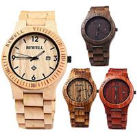 ingrosso orologi naturali-Orologio da polso da uomo casual in pelle di acero naturale di lusso fatto a mano in legno 51