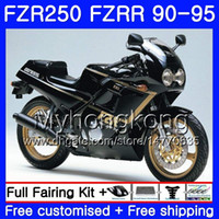 aprilia rs 125 set de carénage achat en gros de-FZRR noir chaud complet pour YAMAHA FZR-250 FZR 250R FZR250 90 91 92 93 94 95 250HM.20 FZR 250 FZR250R 1990 1991 1992 1993 1993 1995 Kit de carénage